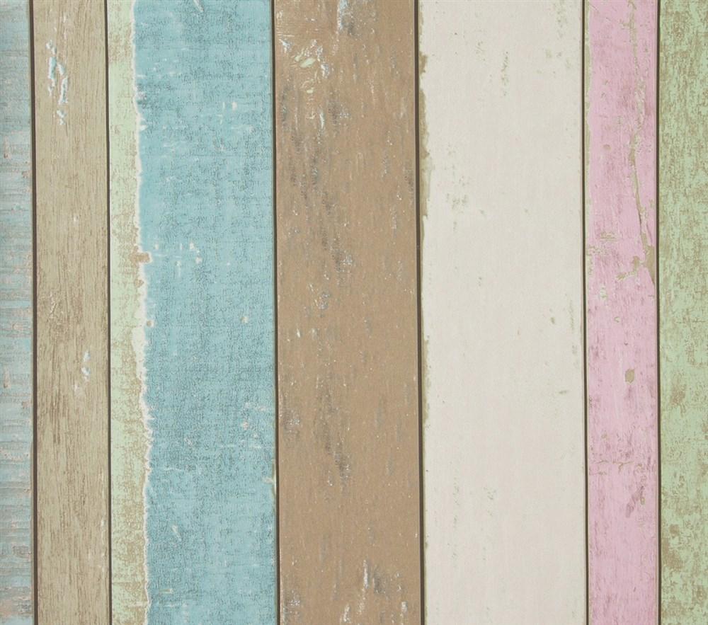Papel pintado madera vintage colores Papel pintado vintage