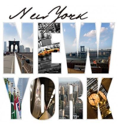 Vinilo New York letras